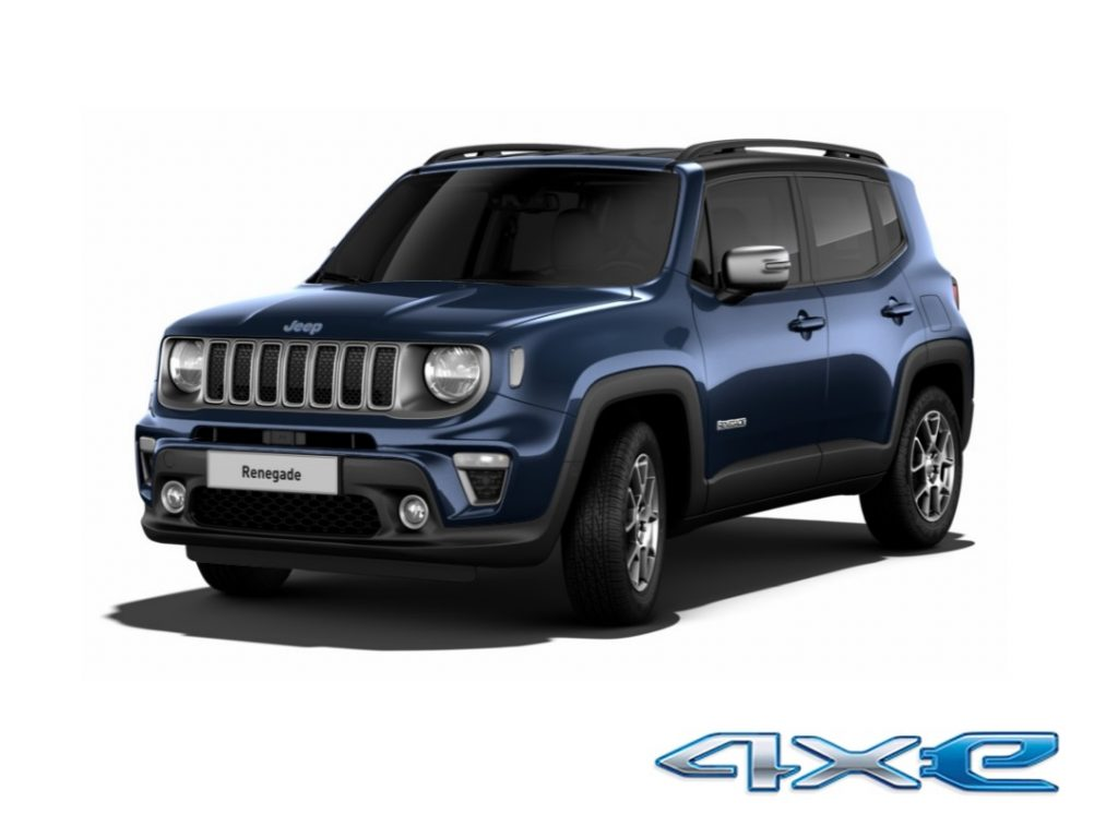 Jeep Renegade Phev Limited Blue Shade tetto nero - 4xe logo
